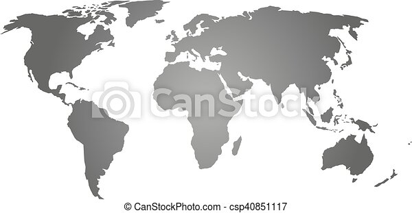 Grey silhouette of world map map of world grey silhouette grey silhouette of world map csp40851117 gumiabroncs Image collections