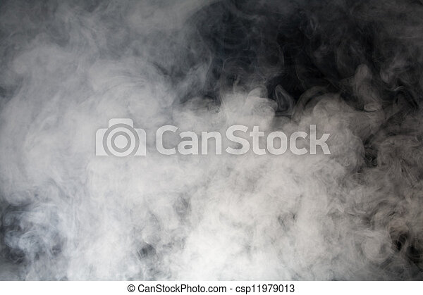 grey smoke with black background - csp11979013