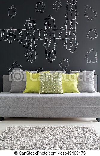 Grey Sofa With Green Cushions Room With Grey Sofa With Green
