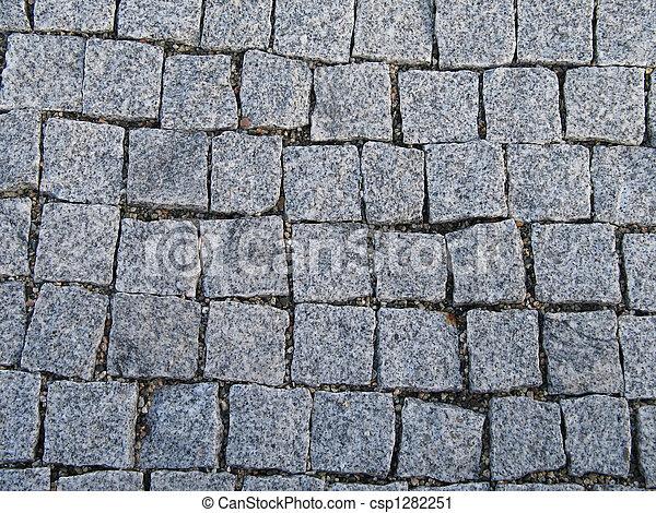 grey square bricks background - csp1282251