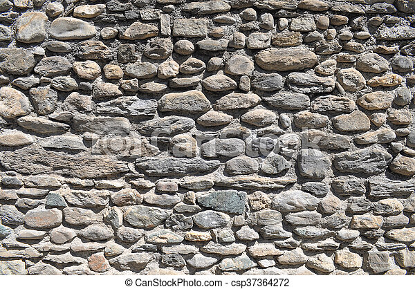 Grey stone wall background - csp37364272