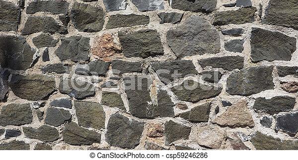 grey stone wall background - csp59246286