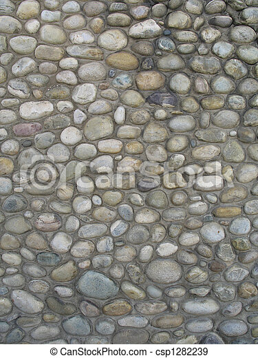 grey stone wall background - csp1282239
