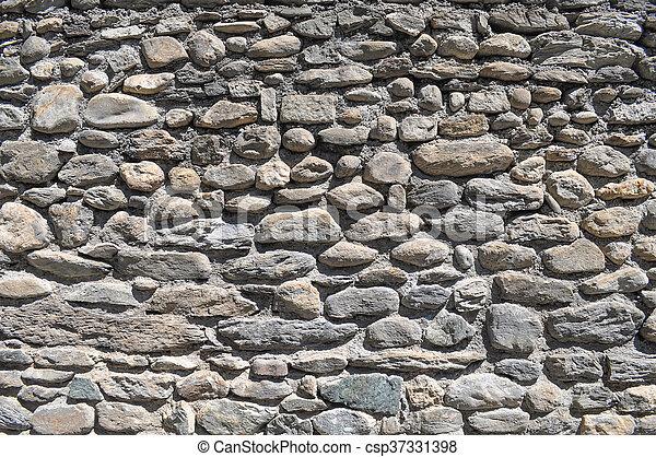 Grey stone wall background - csp37331398