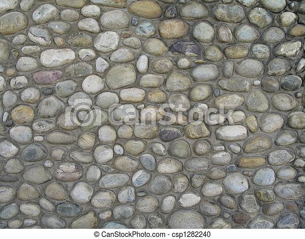 grey stone wall background - csp1282240