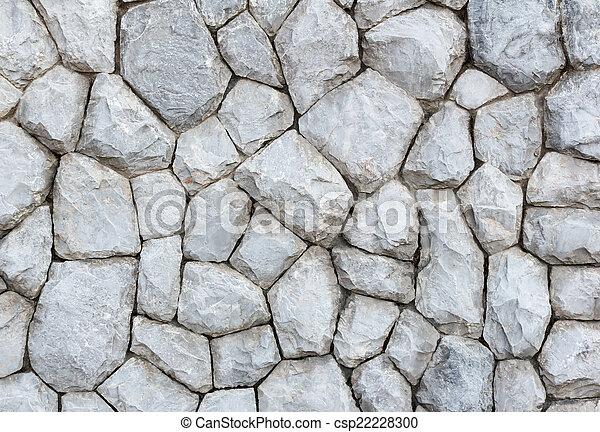 Grey stone wall background - csp22228300