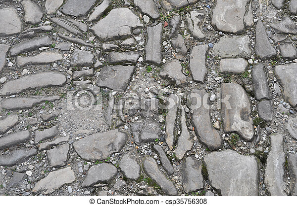 Grey stone wall background - csp35756308