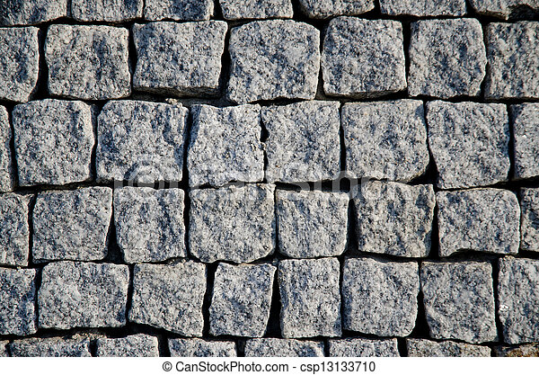 Grey stone wall - csp13133710