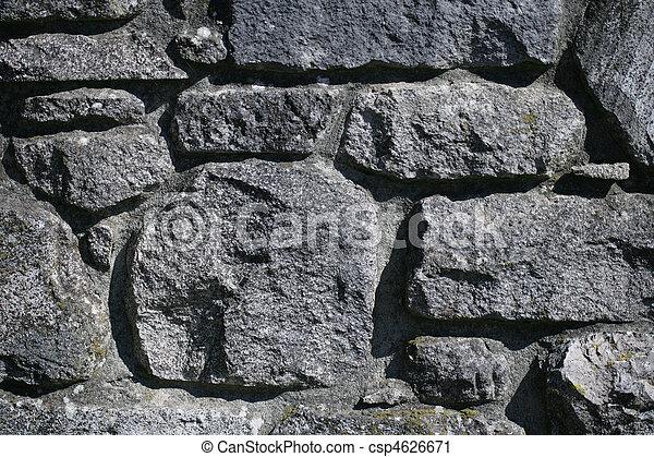 Grey stone wall - csp4626671
