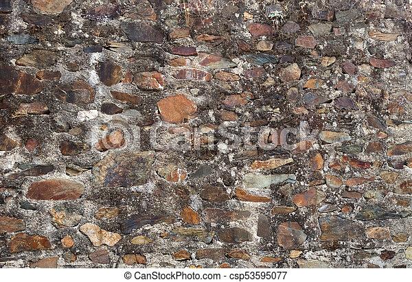 Grey stone wall - csp53595077