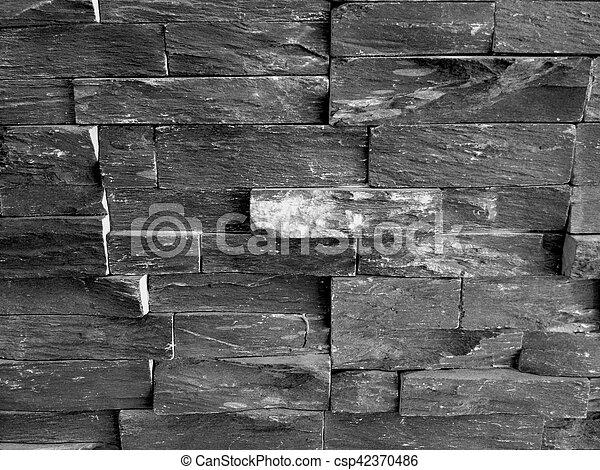 Grey Stone Wall - csp42370486