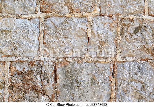 Grey stone wall - csp53743683