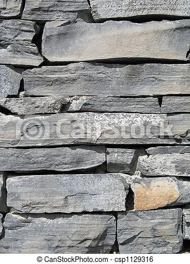 grey stone wall - csp1129316
