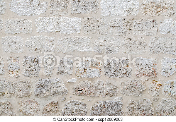 Grey stone wall - csp12089263