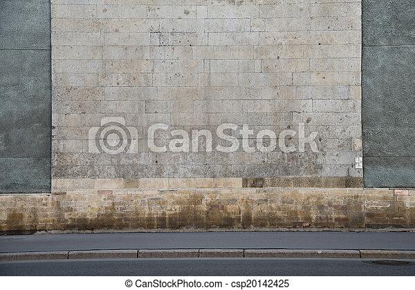Grey stone wall - csp20142425