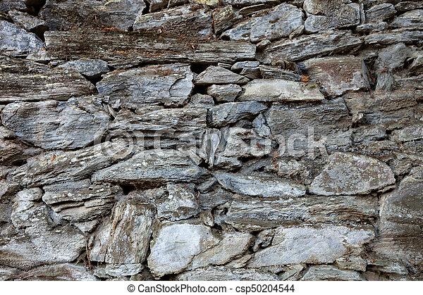 Grey stone wall - csp50204544