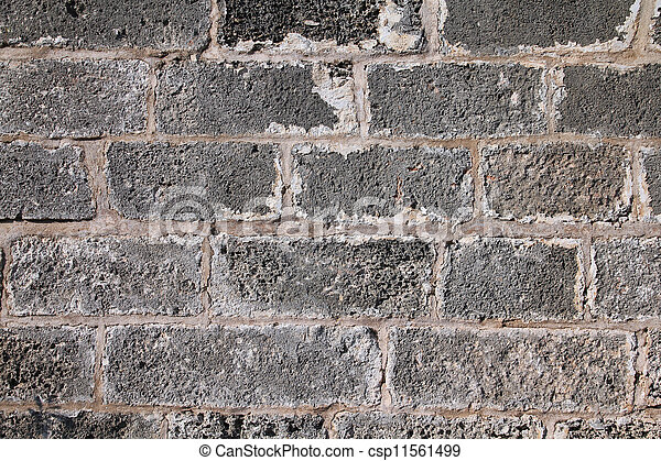 Grey stone wall - csp11561499