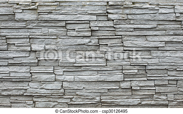 Grey stone wall - csp30126495