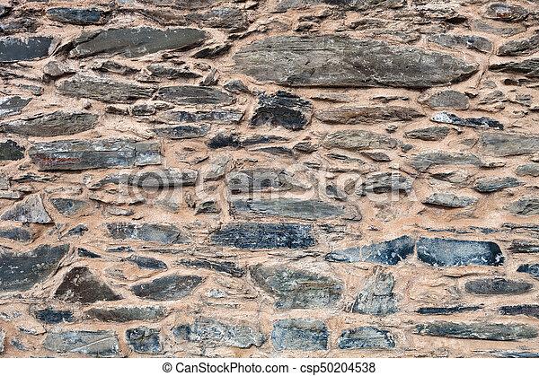 Grey stone wall - csp50204538