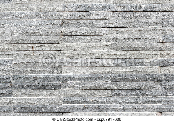 Grey stone wall texture - csp67917608