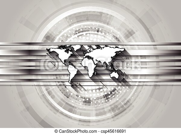 Grey technology background with world map and silver eps vectors grey technology background with world map csp45616691 gumiabroncs Choice Image