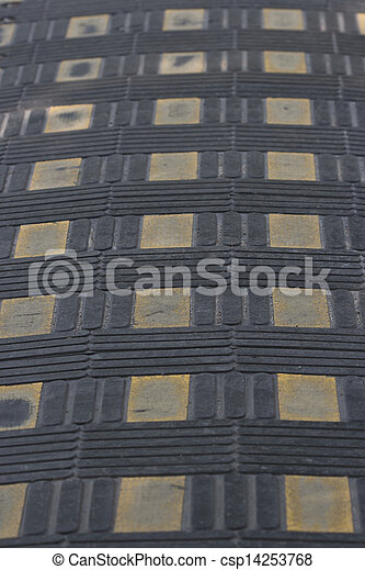 grey tiles give a harmonic pattern at the ground - csp14253768
