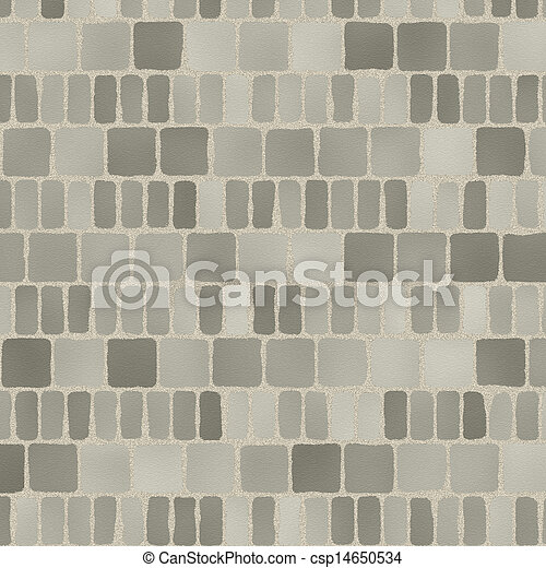 grey tiles give a harmonic pattern at the ground - csp14650534