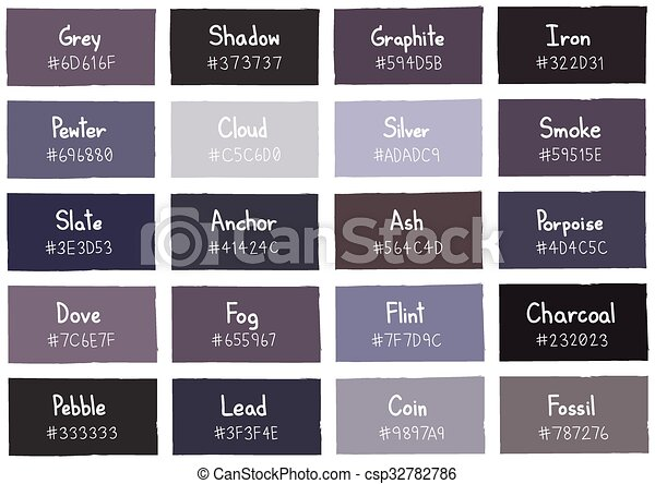 grey tone color shade background with code and name illustration
