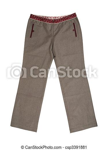Grey trousers pants - csp3391881