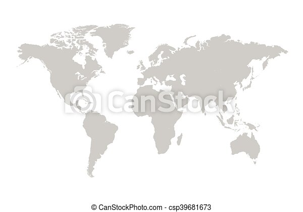 Grey world map illustration grey world map illustration on a white grey world map illustration gumiabroncs Image collections