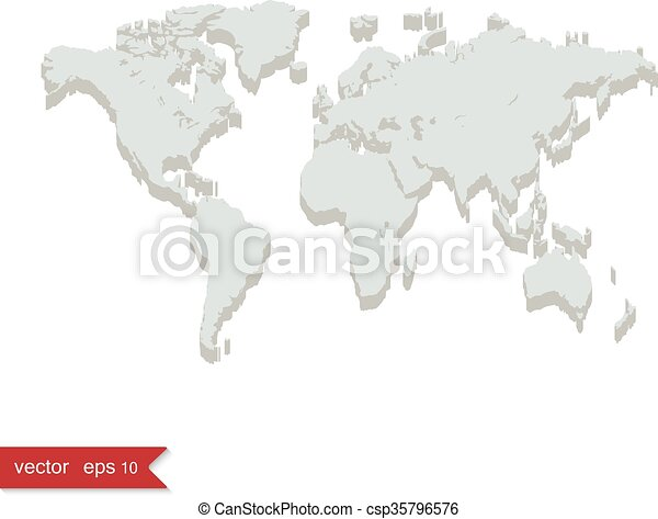 Grey world map 3d style vector illustration grey world map csp35796576 gumiabroncs Images