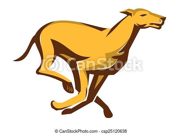greyhound dog race running vector illustration of a greyhound dog rh canstockphoto com Dog-Walking Clip Art Bear Tracks Clip Art