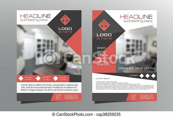 Greyred Brochure Flyer Template Design Vector Leaflet Cover