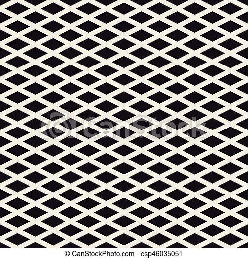 Grid geometric seamless pattern. - csp46035051