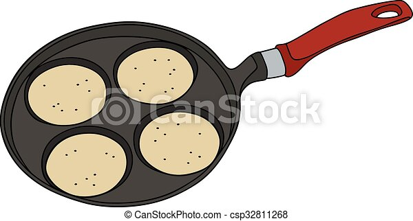 Griddle with pancakes - csp32811268