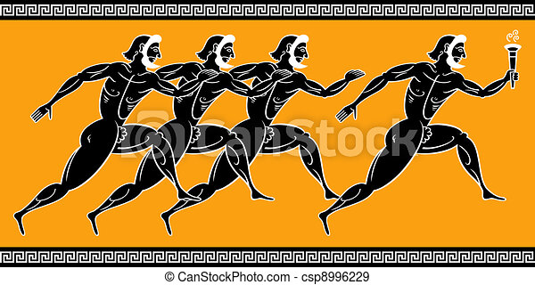 Corredores griegos - csp8996229