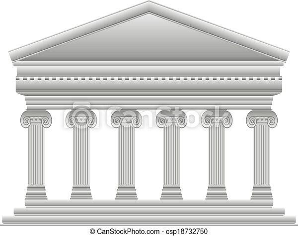 Templo griego iónico - csp18732750