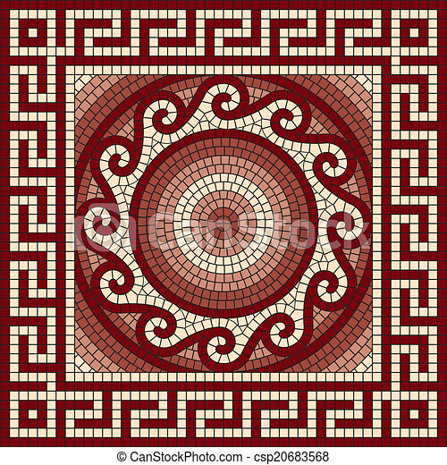 griego meandro mosaico cl sico cl sico ornamento griego vector meandro mosaico. Black Bedroom Furniture Sets. Home Design Ideas