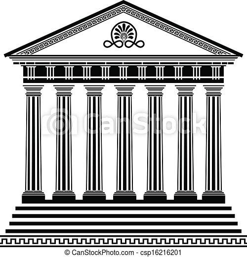 Templo griego, segunda variante - csp16216201