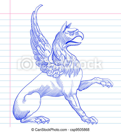 Griffin.Hand drawing  - csp9505868