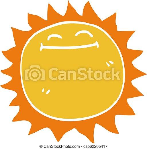 griffonnage, briller, dessin animé, soleil - csp62205417