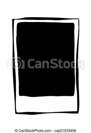 griffonnage cadre polaroid vide. Black Bedroom Furniture Sets. Home Design Ideas