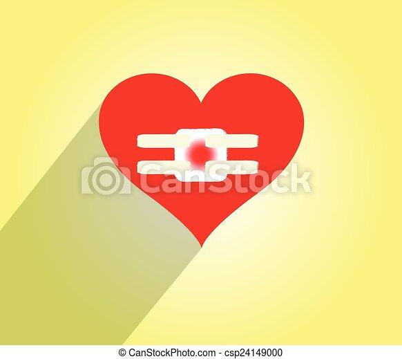 clipart vecteur de griffonnage mal pansements coeur hurt coeur csp24149000. Black Bedroom Furniture Sets. Home Design Ideas