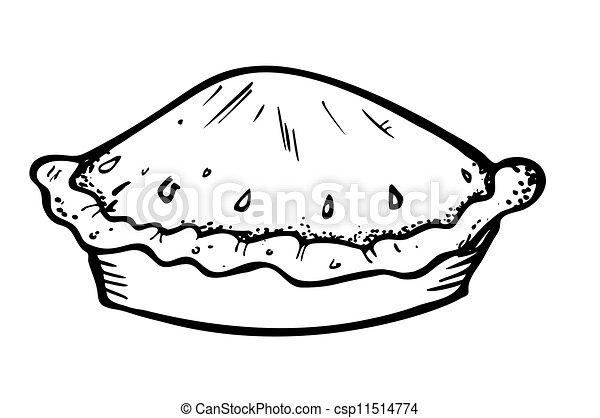 griffonnage, style, tarte - csp11514774