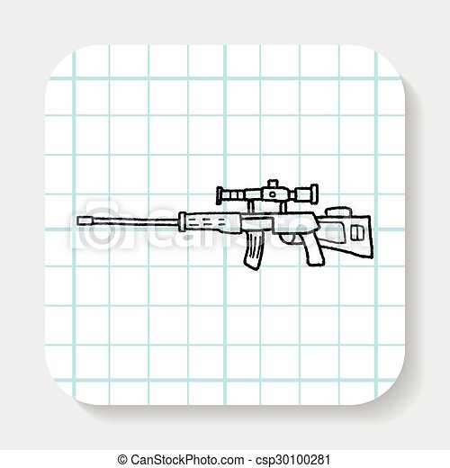 griffonnage, tireur embusqué, fusil - csp30100281