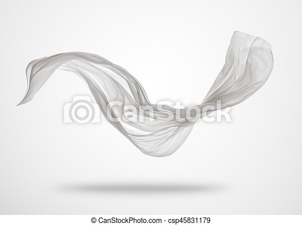grigio, elegante, liscio, stoffa, fondo, bianco - csp45831179
