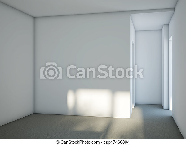 Pavimento Bianco Grigio : Grigio stanza pavimento cemento pareti bianco vuoto grigio