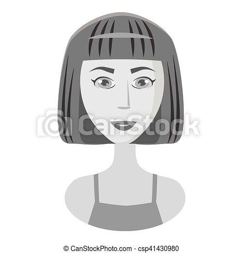 Disegno ragazza capelli corti