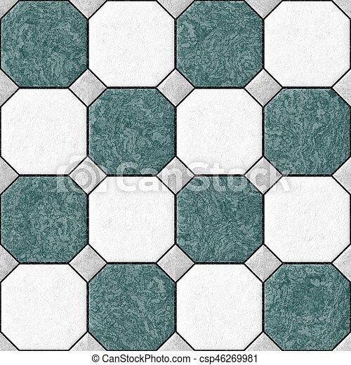 Grigio Tegole Quadrato Blu Pavimento Colorare Rhombs