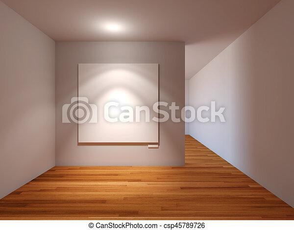 Pareti In Tela : Due spazi vuoti bianchi tela su una rappresentazione d della